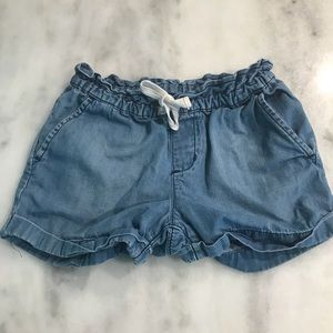 GAP Girls Small Chambray pull on shorts JEAN CUTE